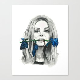 Kiss Me Harder Canvas Print
