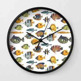 School of Tropical Fish Wall Clock
