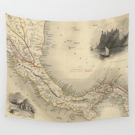 Vintage Map of Panama (1851) Wall Tapestry