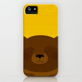 Bees and Bear by Friztin iPhone Case