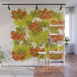 thanksgiving, gold, text, autumn, fall,  celebration, greeting, typography, party, leaf, Wall Mural