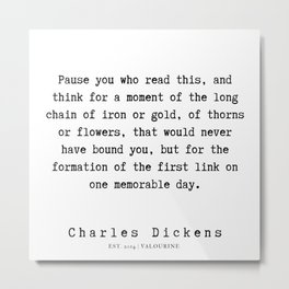 32    | Charles Dickens Quotes | 190727 Metal Print