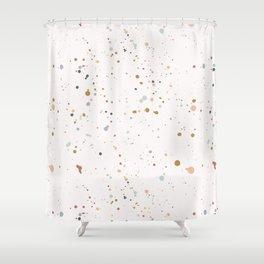 Colorful Ink Splatter 0009 Shower Curtain