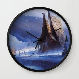 Viking House Wall Clock