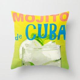 Mojito de Cuba Throw Pillow