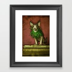 Green collar Framed Art Print