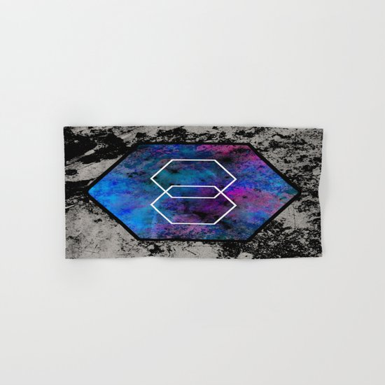 TEXtured HEX - Abstract, geometric, textured artwork Hand & Bath Towel