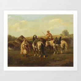Adolf Schreyer(German, 1828-1899)On Horseback Art Print