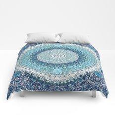 Teal Tapestry Mandala Comforters