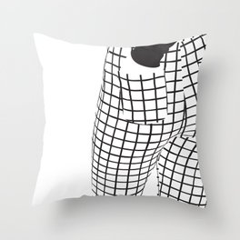 Minimalistic B-Side Throw Pillow