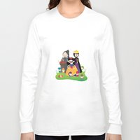 snow white Long Sleeve T-shirts featuring Snow white by Maria Jose Da Luz