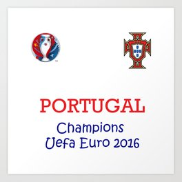 Champion Uefa Euro 2016 Portugal Art Print