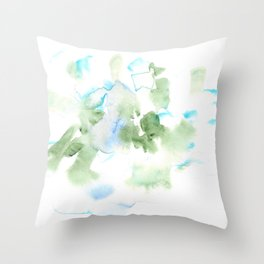 180515 Watercolour Abstract  Wp 17| Watercolor Brush Strokes Throw Pillow
