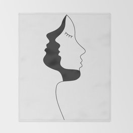 Silhouette Throw Blanket