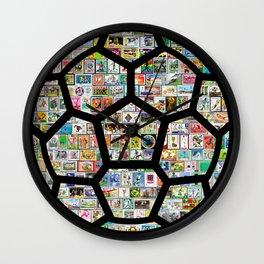 Dark Philately Soccer Ball Wall Clock