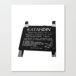 To Katahdin Canvas Print