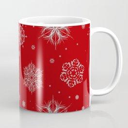 Silver snowflakes Coffee Mug