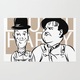 Face Laurel And Hardy Rug