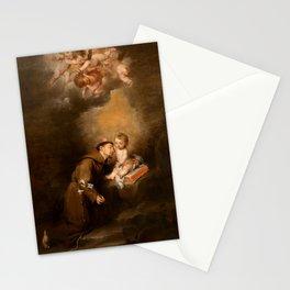 Bartolome Esteban Murillo - Saint Anthony of Padua with the Child Stationery Cards