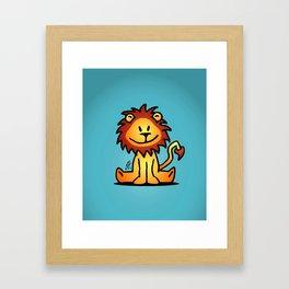 Cute little lion Framed Art Print