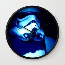 Blue Storm : Storm Trooper  Wall Clock