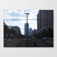 cross Canvas Prints featuring Cross by Kammy Nature Prints