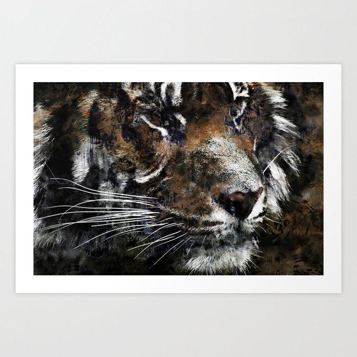 Majestic Tiger Kunstdrucke