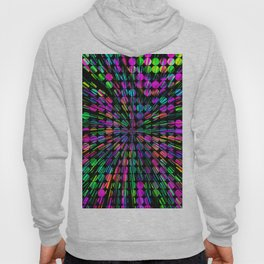 geometric circle abstract pattern in pink blue green black Hoody