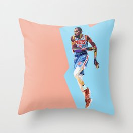 Slim Reaper KD #7 Basketball Player Throw Pillow