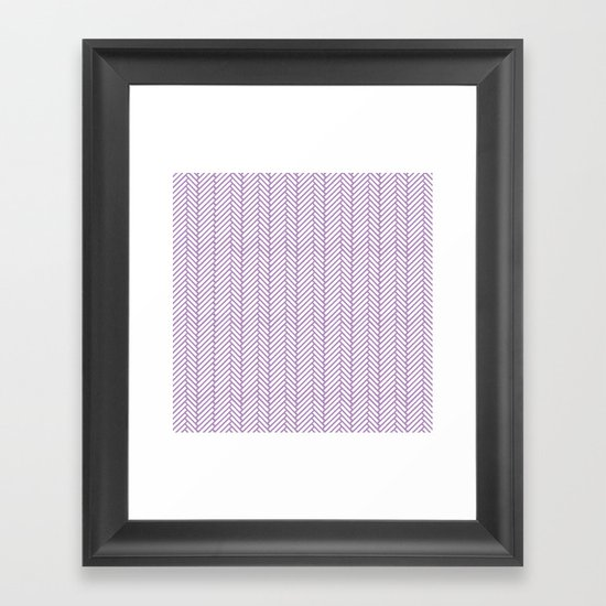 Herringbone Orchid Framed Art Print
