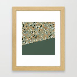 Terrazzo Texture Military Green #4 Framed Art Print