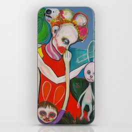 How a bunny explains an artist garden`s pleasure iPhone Skin