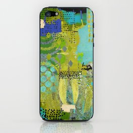 Being Green Abstract Art Collage iPhone Skin