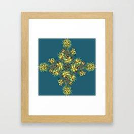 2941-Bottlebrush#1-P2-Teal Framed Art Print