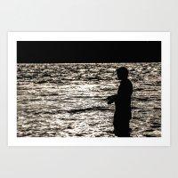 Fisherman II  Art Print