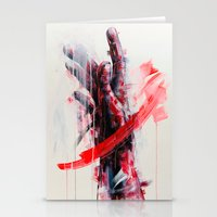 courage Stationery Cards featuring Courage by dairo vargas