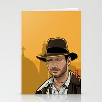 indiana jones Stationery Cards featuring Indiana by Akyanyme