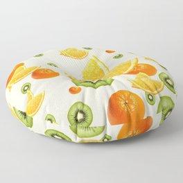 TROPICAL KIWI-ORANGES KITCHEN ART Floor Pillow