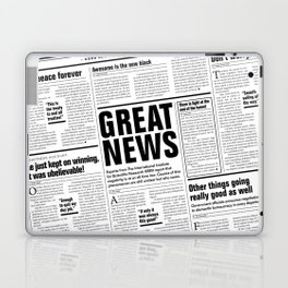 The Good Times Vol. 1, No. 1 / Newspaper with only good news Laptop & iPad Skin