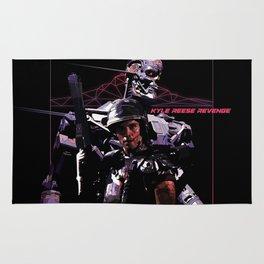 Kyle Reese Revenge Aliens Terminator 80s synthwave Rug