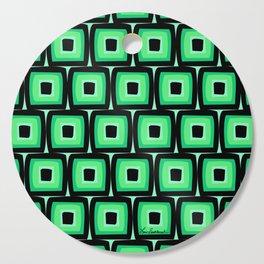 Mod Green Squares Cutting Board
