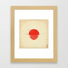 "Japan relief poster/all proceeds will go to ""Peace Winds"" Framed Art Print"