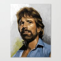 infamous Canvas Prints featuring Infamous Chuck by Ninth Branch