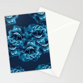 Blue Peony Flower Bouquet #1 #floral #decor #art #society6 Stationery Cards