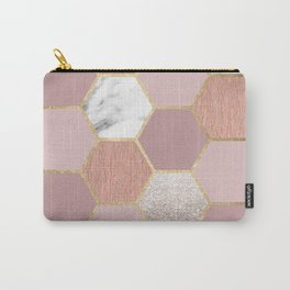 Indulgent desires rose gold marble Carry-All Pouch