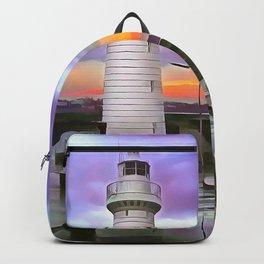 Donaghadee Lighthouse,Ireland. (Painting) Backpack
