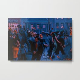 African-American Classical Masterpiece Gettin' Religion by Archibald Motley Metal Print