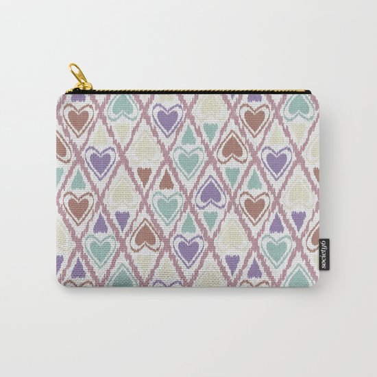 Favorite pattern . Brown and purple . Carry-All Pouch