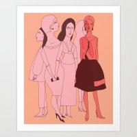 vogue Art Prints featuring VOGUE by Kathryn Twirls