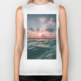 Sunset Tide Biker Tank